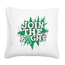 Join Fight Liver Cancer Square Canvas Pillow