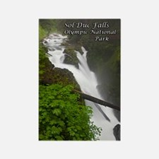 Sol Duc Falls Rectangle Magnet