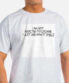 Smelly Cocaine Ash Grey T-Shirt