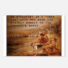Be Steadfast As A Tower - Dante Alighieri Postcard