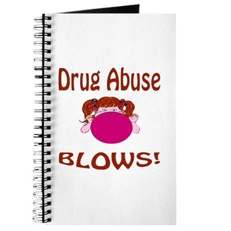 Drug Abuse Blows! Journal by blonde designs