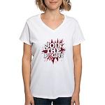 Join Fight Multiple Myeloma Women's V-Neck T-Shirt