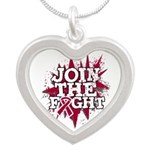 Join Fight Multiple Myeloma Silver Heart Necklace