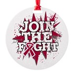 Join Fight Multiple Myeloma Round Ornament