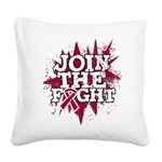 Join Fight Multiple Myeloma Square Canvas Pillow