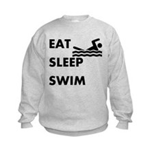 Eat Sleep Swim Sweatshirt