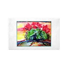 Cactus! Colorful desert art! 3'x5' Area Rug