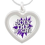 Join Fight Pancreatic Cancer Silver Heart Necklace