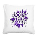 Join Fight Pancreatic Cancer Square Canvas Pillow