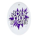 Join Fight Pancreatic Cancer Ornament (Oval)