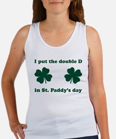 St. Paddy's Double D Women's Tank Top