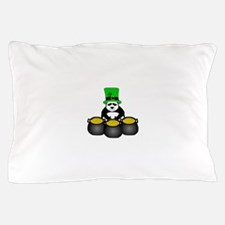 St. Patricks Day Panda Pillow Case