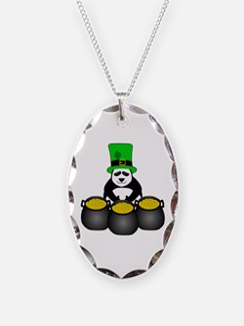 St. Patricks Day Panda Necklace