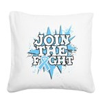 Join Fight Prostate Cancer Square Canvas Pillow