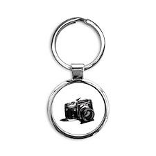 Camera Round Keychain