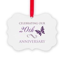 20th Anniversary (Butterfly) Ornament