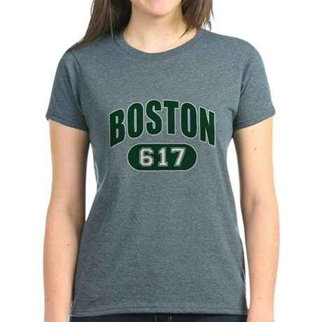 Boston 617 Women's Dark T-Shirt