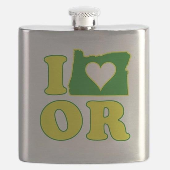 I Heart (Love) Oregon Flask