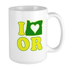I Heart (Love) Oregon Mug