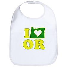 I Heart (Love) Oregon Bib