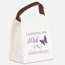 40th Anniversary (Butterfly) Canvas Lunch Bag