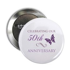 "50th Anniversary (Butterfly) 2.25"" Button"