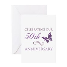50th Anniversary (Butterfly) Greeting Card