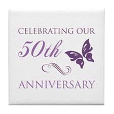50th Anniversary (Butterfly) Tile Coaster