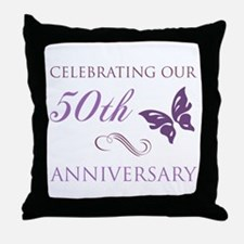 50th Anniversary (Butterfly) Throw Pillow