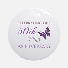 50th Anniversary (Butterfly) Ornament (Round)