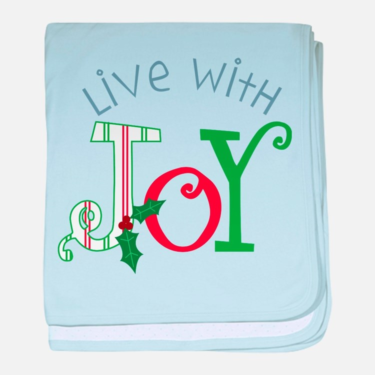 Live With Joy baby blanket