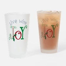 Live With Joy Drinking Glass