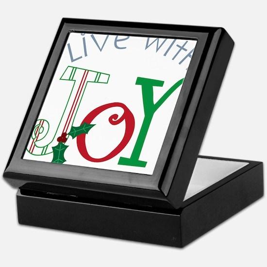 Live With Joy Keepsake Box