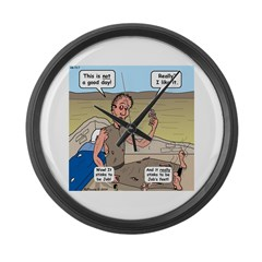 Jobs Very Bad Day Large Wall Clock