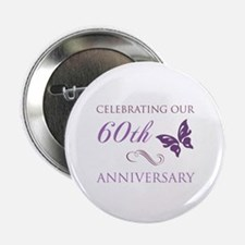 """60th Anniversary (Butterfly) 2.25"""" Button"""