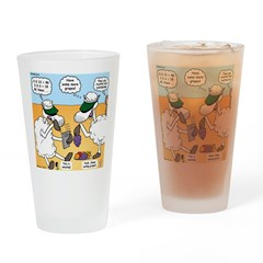 Fruitful and Multiplying Sheep Drinking Glass