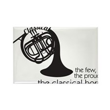 The Classical Horns Rectangle Magnet