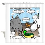 Sheep, Wolf, et al Shower Curtain