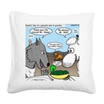 Sheep, Wolf, et al Square Canvas Pillow