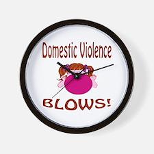 Domestic Violence Blows! Wall Clock
