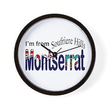 Soufriere Hills Montserrat Wall Clock