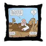 Camel Talk Throw Pillow