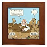 Camel Talk Framed Tile