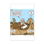 Camel Talk Mini Poster Print