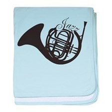 Jazz French Horn baby blanket