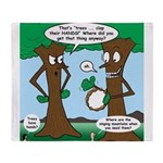 Trees Clapping? Throw Blanket