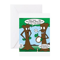 Trees Clapping? Greeting Card
