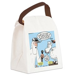 Silence of the Sheep Canvas Lunch Bag