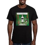 Ostrich Jackal Sermon Men's Fitted T-Shirt (dark)