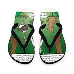 Ostrich Jackal Sermon Flip Flops